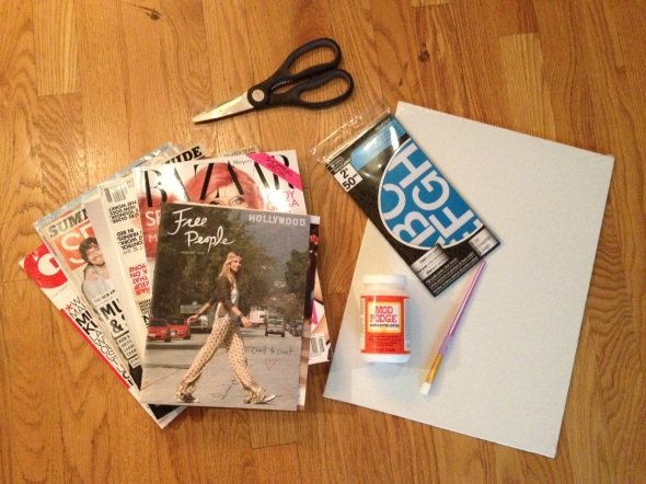 DIY: Magazine Cut Out Poster Step 1 {Rose Gold Blog}