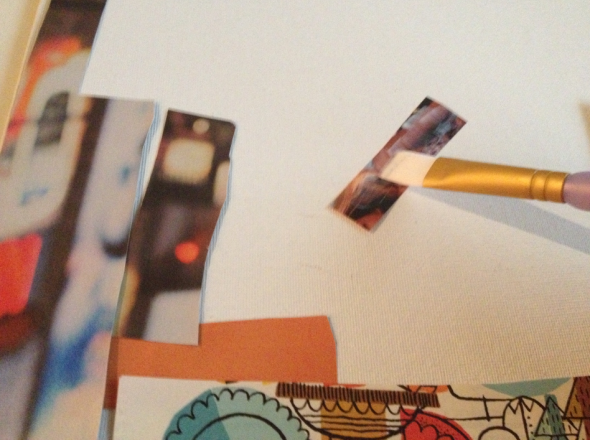 DIY: Magazine Cut Out Poster Step 5 {Rose Gold Blog}