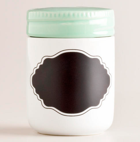 Mint Chalkboard Jar {Rose Gold Walls Blog}