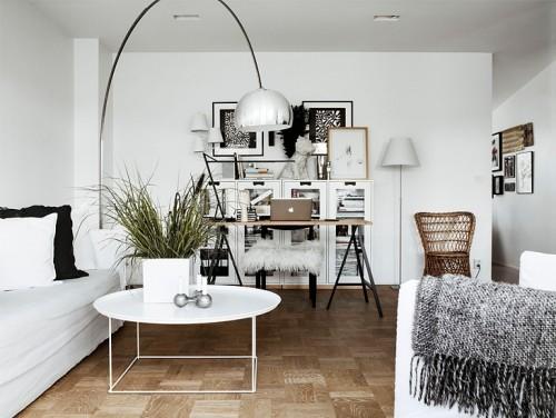 Inspiration Board: Modern White Home Office {Rose Gold Walls Blog}
