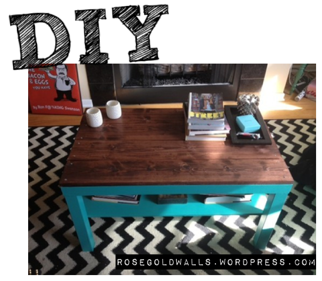 DIY: Ikea Hack Coffee Table Header {Rose Gold Walls Blog}